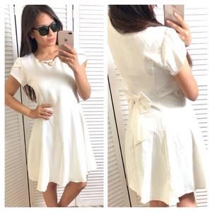 Платье короткое коктейльное белое Т4335