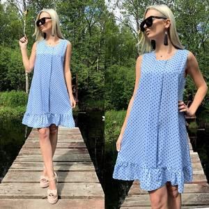 Платье короткое с принтом летнее Т8777