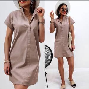 Платье короткое однотонное А40210