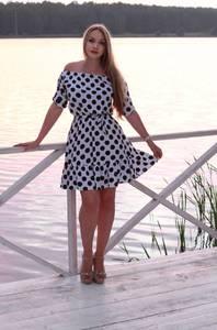 Платье короткое с принтом летнее Т8405
