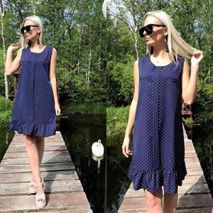 Платье короткое с принтом летнее Т8778