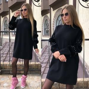 Платье короткое повседневное современное Т8758