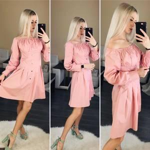 Платье короткое нарядное однотонное Ц1123