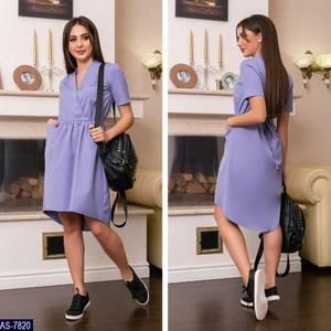 Платье короткое однотонное летнее Х8699