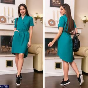 Платье короткое однотонное летнее Х8698