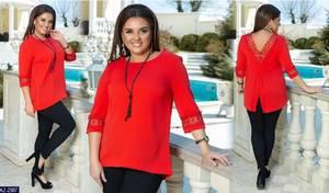 Блуза с коротким рукавом А27040