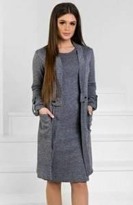 Платье короткое трикотажное однотонное Ф0999