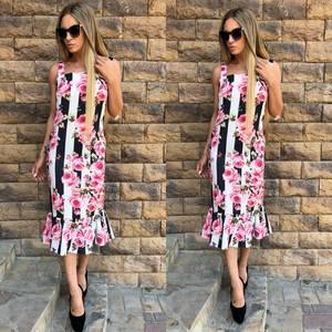 Платье длинное с принтом с открытыми плечами Т6465