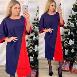 Платье короткое нарядное с коротким рукавом Ф7401