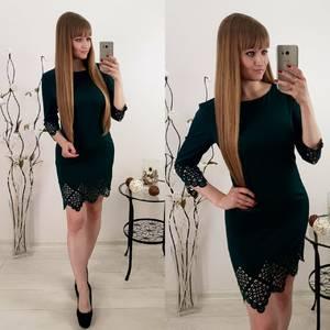 Платье короткое черное облегающее Т6542