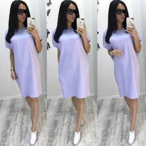 Платье короткое однотонное классическое Т6456