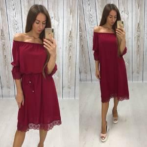 Платье короткое нарядное красное Т6461