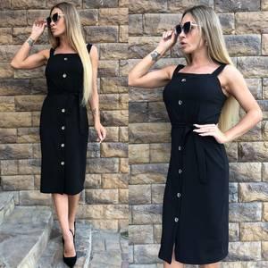 Платье короткое элегантное черное У0709