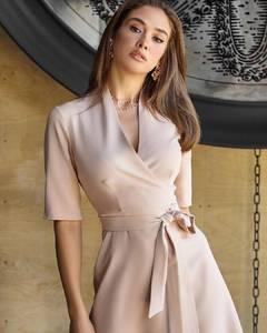 Платье короткое однотонное А53691