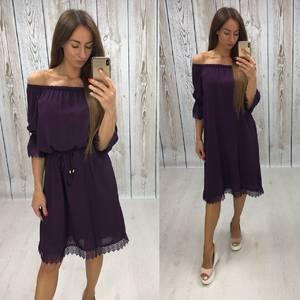 Платье короткое нарядное однотонное Т6462