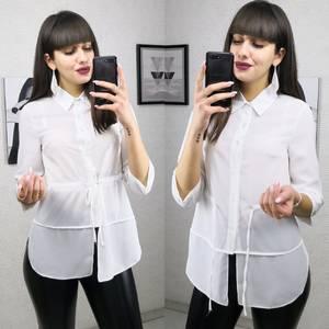 Рубашка однотонная прозрачная Х2495