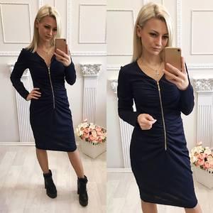 Платье короткое с длинным рукавом облегающее Ф5480