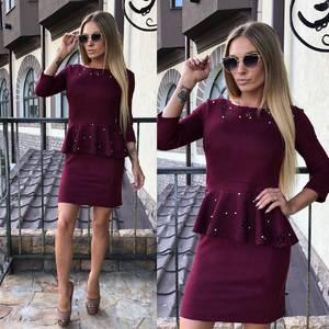 Платье короткое вечернее однотонное У0335