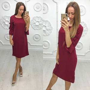 Платье короткое нарядное красное Ф1946