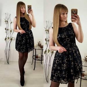 Платье короткое коктейльное черное П3203