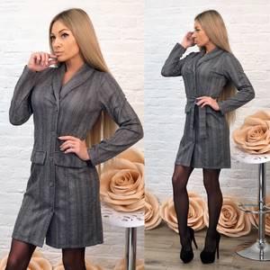 Платье короткое с длинным рукавом элегантное Ф6999