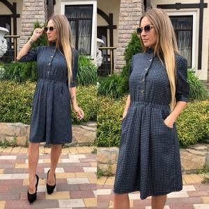 Платье короткое с рукавом 3/4 классическое Т9236