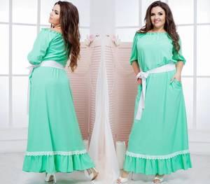 Платье длинное летнее нарядное Т6864