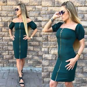 Платье короткое однотонное современное Т9615