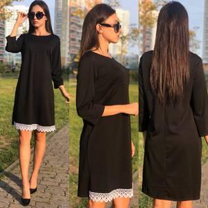 Платье короткое с кружевом У9476