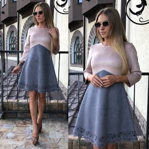 Платье короткое коктейльное современное У0327
