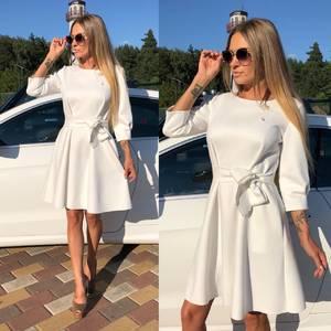 Платье короткое коктейльное белое У0328