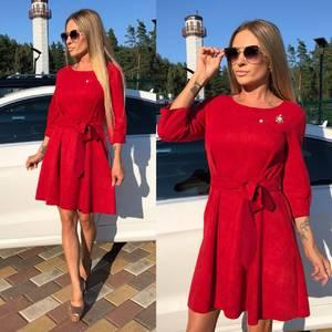 Платье короткое коктейльное красное У0329