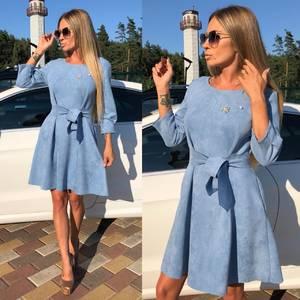 Платье короткое коктейльное синее У0330