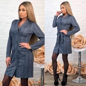Платье короткое с длинным рукавом элегантное Ф7000