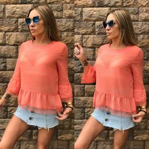Блуза летняя прозрачная Т6830