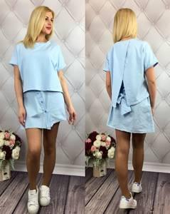 Платье короткое однотонное современное Т9776