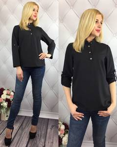 Блуза для офиса черная У8992