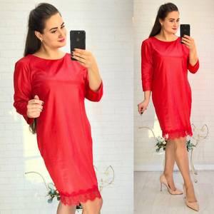 Платье короткое нарядное красное Х3595