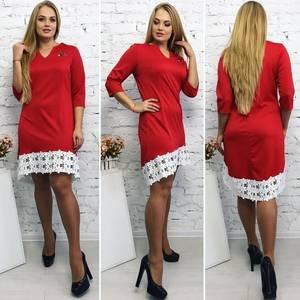 Платье короткое элегантное красное Т9215