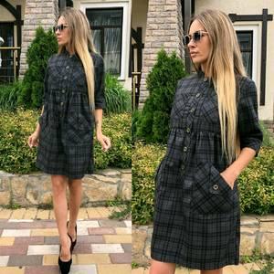 Платье короткое с рукавом 3/4 классическое Т9238