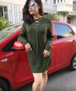 Платье короткое однотонное теплое Т9779