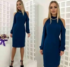 Платье короткое с длинным рукавом современное Т9870