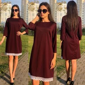 Платье короткое с кружевом У9478