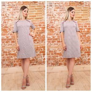 Платье короткое трикотажное летнее Ф0919