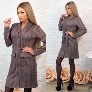 Платье короткое с длинным рукавом классическое Ф7001