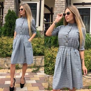 Платье короткое с рукавом 3/4 классическое Т9239