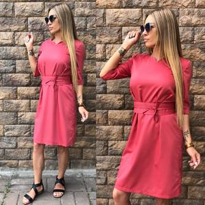 Платье короткое однотонное современное Т6816