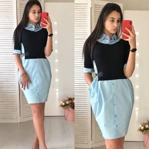 Платье короткое нарядное современное Ф0863