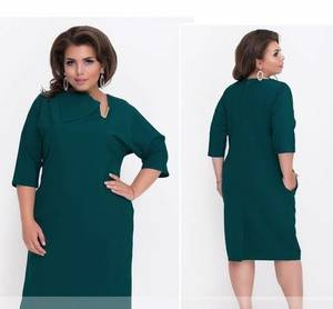 Платье короткое нарядное зеленое Ф1483