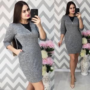 Платье короткое трикотажное Ф5337
